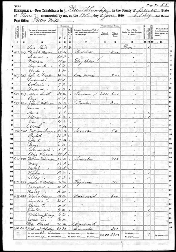 1860 United States Federal Census - David M Henney.jpg
