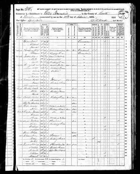 1870 United States Federal Census - David M Henney.jpg