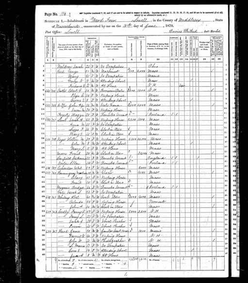 1870 United States Federal Census - Mary Lillie Keyes.jpg