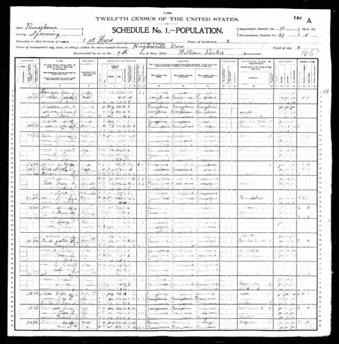 1900 United States Federal Census - Augustus O Deininger